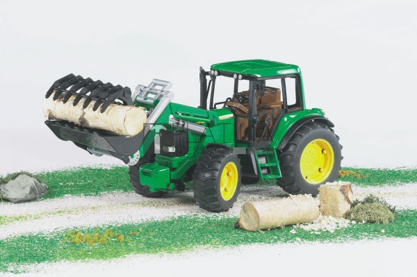 Bruder John Deere 6920 traktor homlokrakodóval (02052) - 02052 B