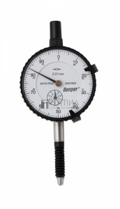 Berger vízálló mérőóra, IP53 0-10/0,01mm