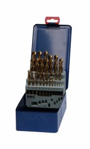 Bohrcraft 25 részes csigafúró készlet HSS-TiN d1,0-13,0/0,5 MT13