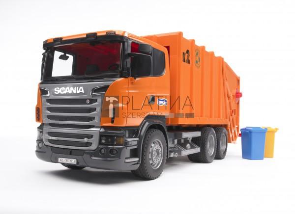 Bruder Scania R-szériás szemétszállító /narancssárga/ (03560) - 03560 B