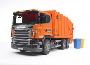 Bruder Scania R-szériás szemétszállító /narancssárga/ (03560)