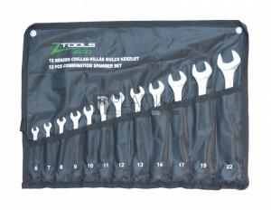 Z-Tools 12 részes csillag-villás kulcskészlet 6-22mm