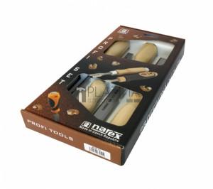 Narex 863010 asztalosvéső készlet 4 részes fa nyéllel 6-12-20-26mm