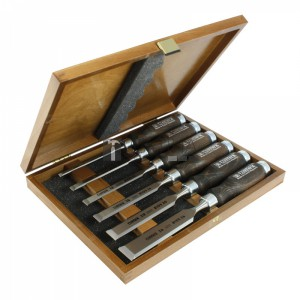 Narex 853053 asztalosvéső készlet 6 részes pácolt fa nyéllel 6-26mm
