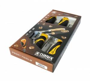 Narex 860600 favéső készlet 4 részes üthető fémvégű nyéllel 6-12-20-26mm