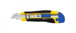Fémsínes kés törhető pengével 18mm RSX82 gumis
