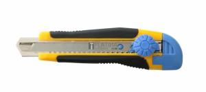 Fémsínes kés törhető pengével 18mm RSX83 gumis, csavaros
