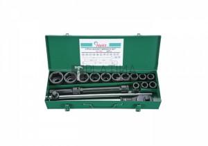 Hans 3/4  gépi dugókulcs készlet 17 részes 6617M8 (19-50mm)