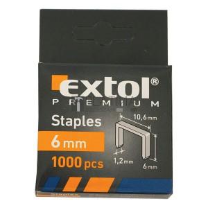 Extol tűzőgépkapcsok profi (10,6×0,52×1,2mm) 1000db