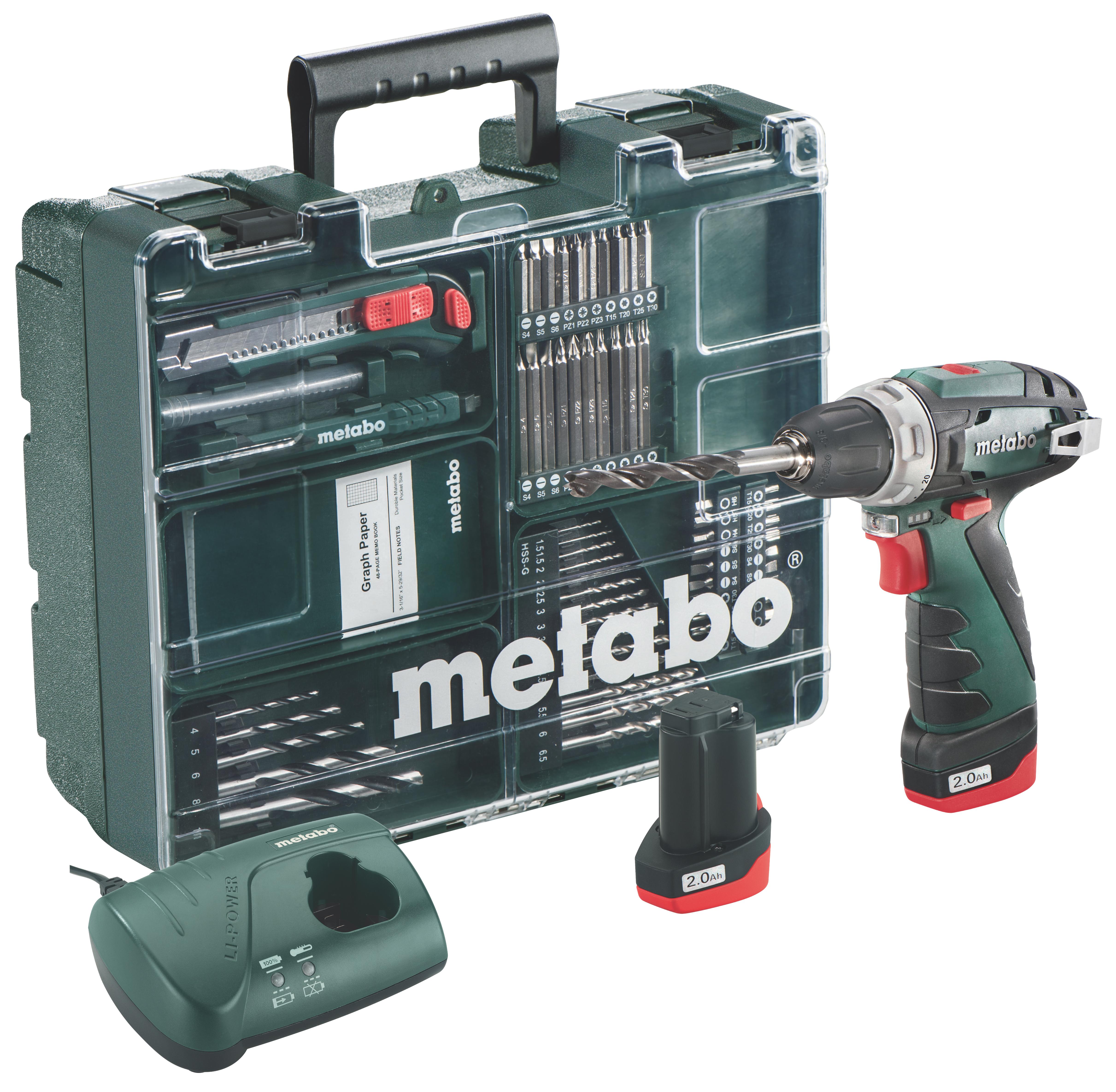 Metabo PowerMaxx BS Basic Set akkus fúró- csavarbehajtó (2 x 2.0Ah + készlet)