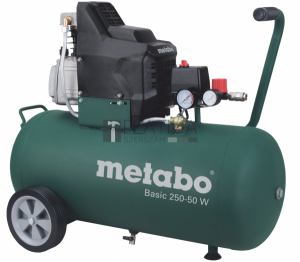 Metabo Basic 250-50 W kompresszor 50l, 1,5kW, 8bar