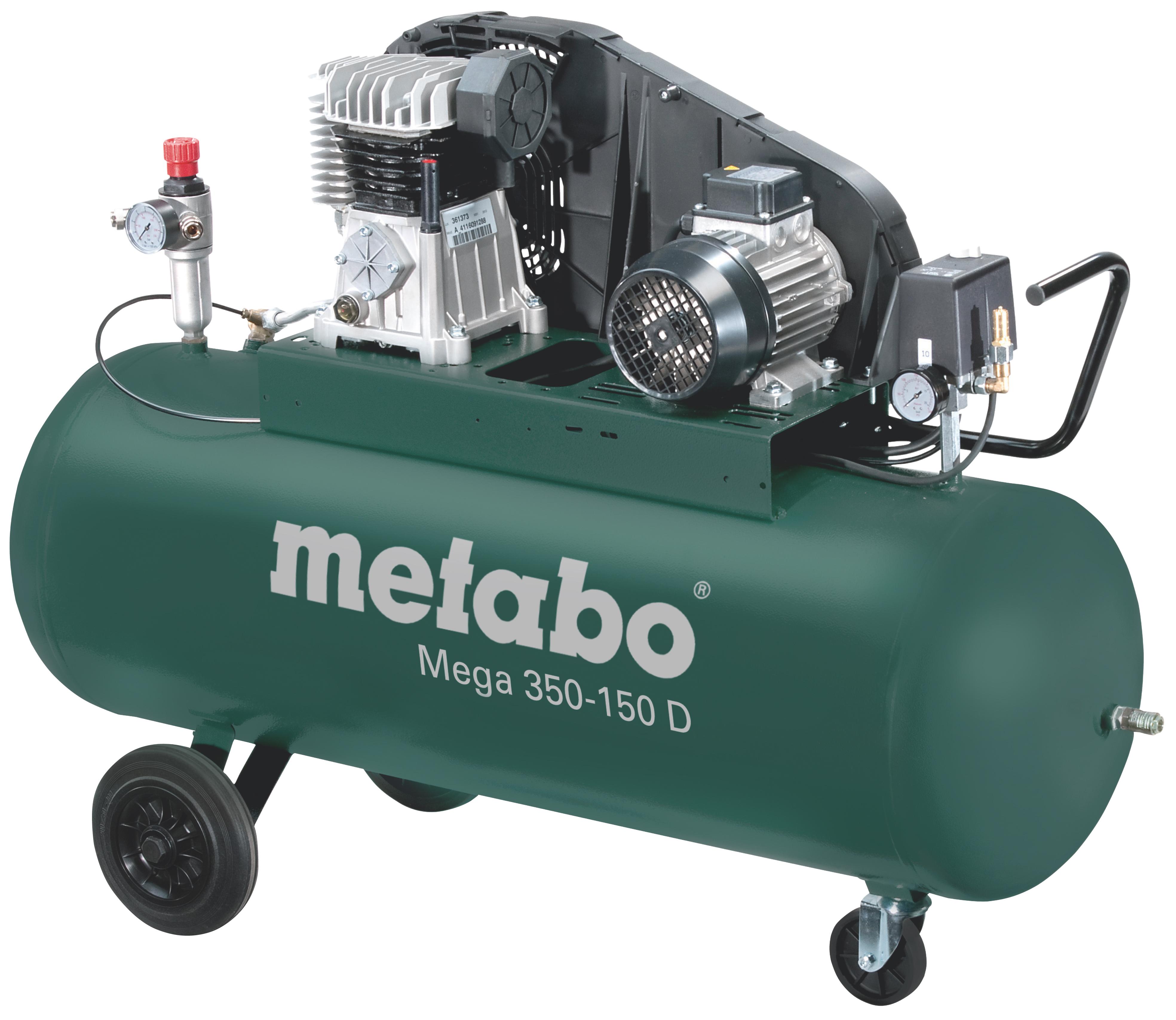 Metabo Mega 350-150 D kompresszor 150l, 2,2kW, 10bar