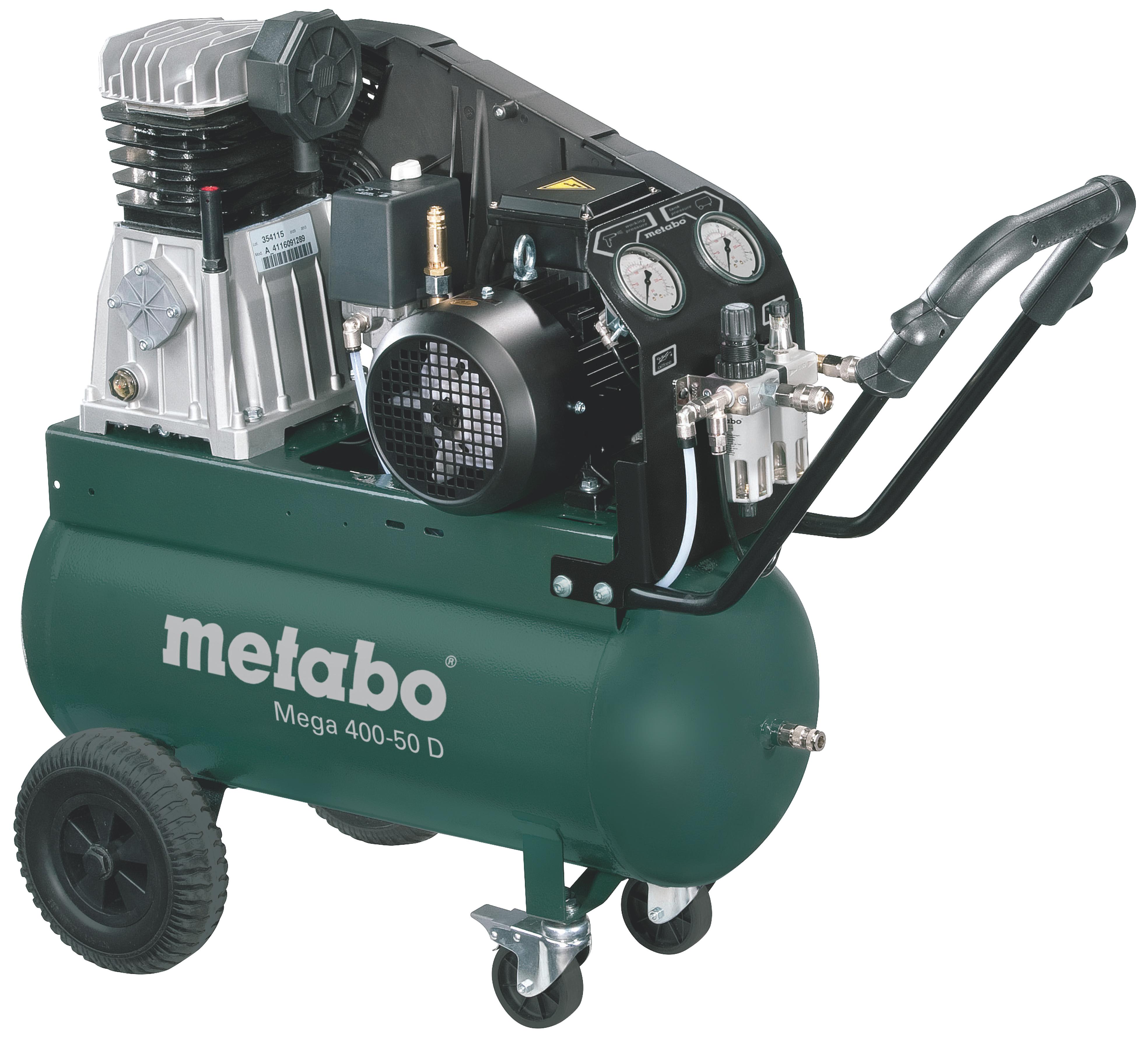 Metabo Mega 400-50 D kompresszor 50l, 2,2kW, 10bar
