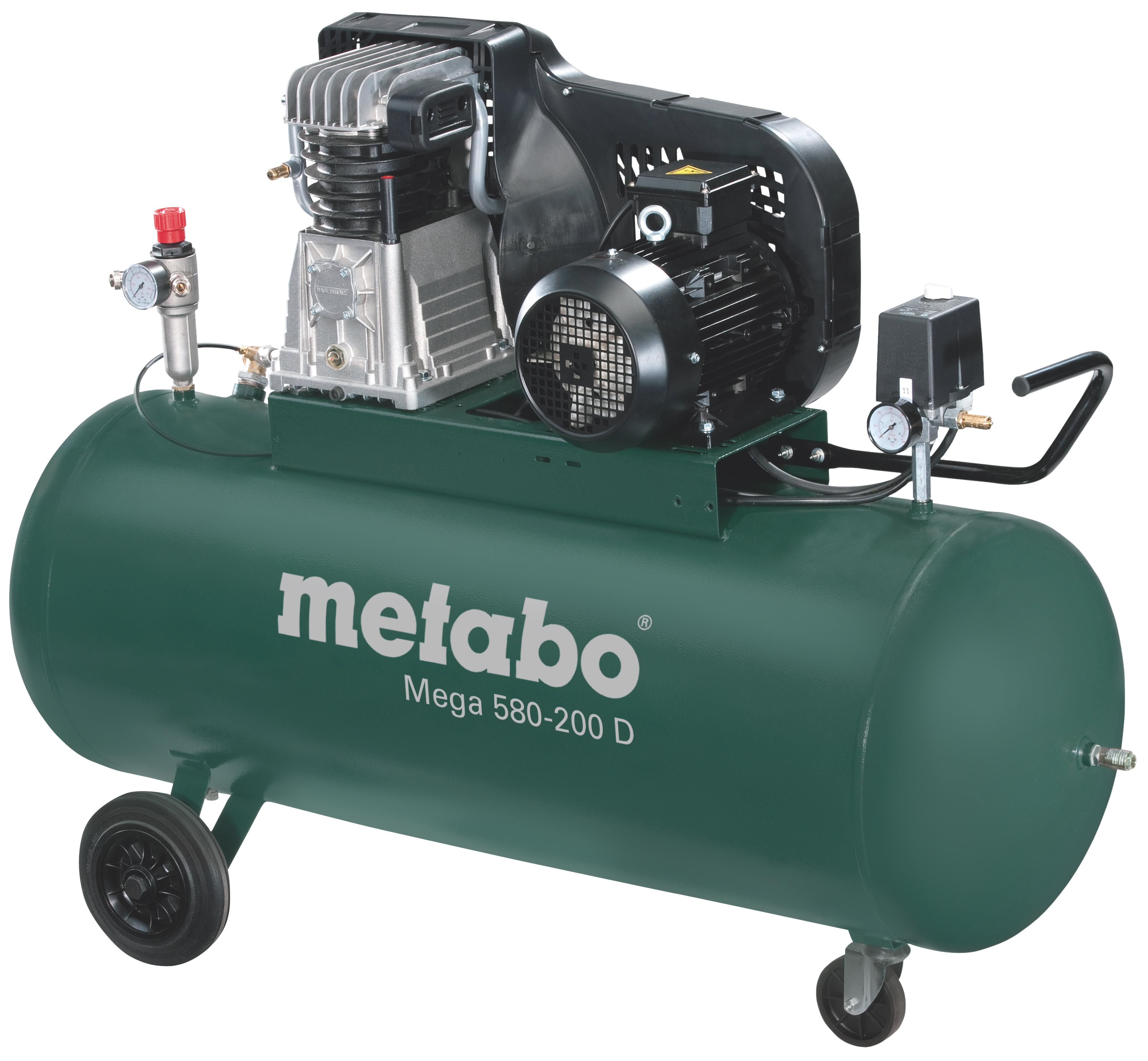 Metabo Mega 580-200 D kompresszor 200l, 3kW, 11bar