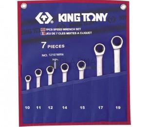 King Tony 7 részes racsnis csillag-villás kulcs készlet 12107MRN