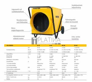 Master B30 EPR ipari elektromos hőlégfúvó (30kW 43,5A)