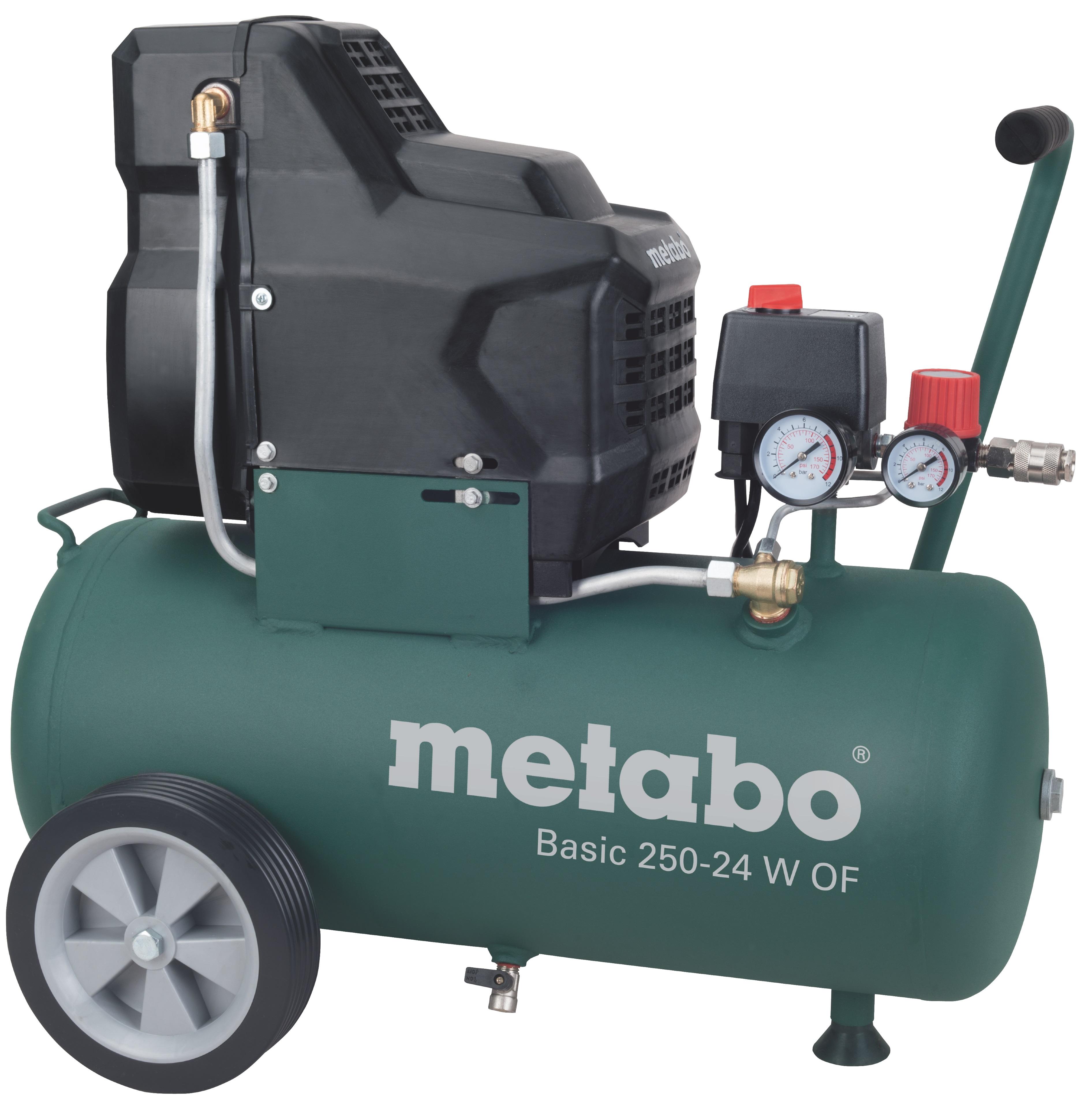 Metabo Basic 250-24 W OF olajmentes kompresszor + LPZ4 levegős szett