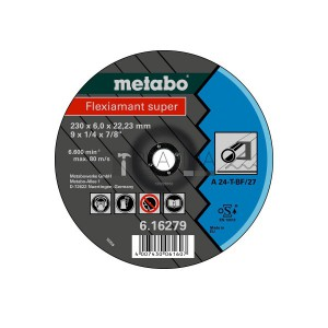 Metabo Flexiamant Super csiszolókorongok acélra (A 24-T)