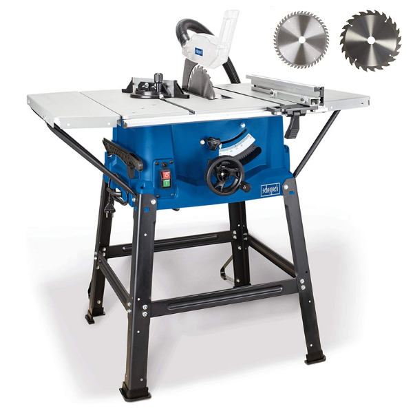 Scheppach HS 100 S Special Edition asztali körfűrész + állvány + AJÀNDÈK