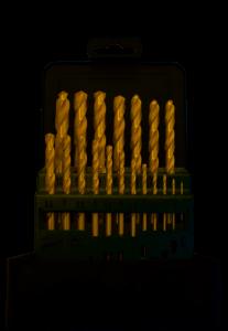 Abraboro HSS-TIN fémcsigafúró készlet, 19 részes