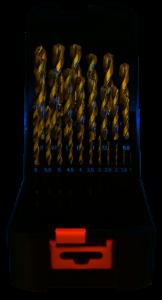 Abraboro HSS-CO SPEED fémcsigafúró készlet DIN 338, 25 részes
