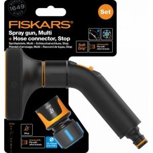 Fiskars Comfort 5 funkcios öntözőfej + gyorscsatlakozó 13 MM (1/2) stop
