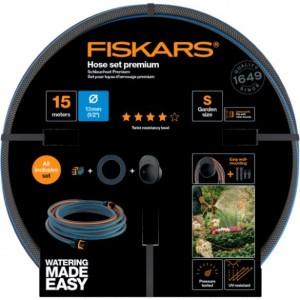 Fiskars Comfort locsolótömlo + tároló szett 13mm (1/2) 15m Q4