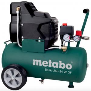 Metabo Basic 250-24 W OF olajmentes kompresszor 24l, 1,5kW, 8bar