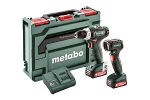 Metabo Set PowerMaxx BS 12 akkus fúrócsavarozó (2x2.0Ah) + lámpa