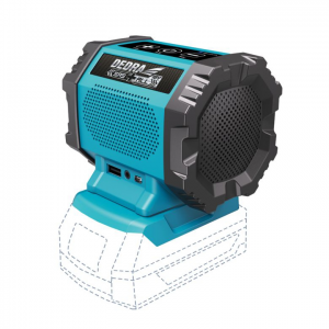 Dedra akkumulátoros hangszóró bluetooth, USB aljzat 18V