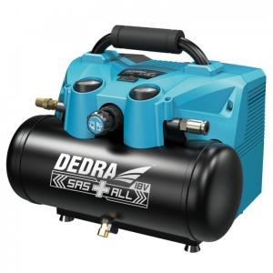 Dedra akkumulátoros kompresszor 6l 2x18V