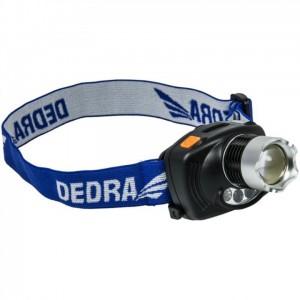Dedra fejlámpa 3W CREE LED, fókuszálható, infravörös, elemekkel