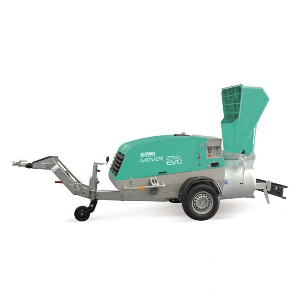 IMER Mover 270 DBR WT EVO dízelmotoros esztrich-beton keverő és továbbító gép