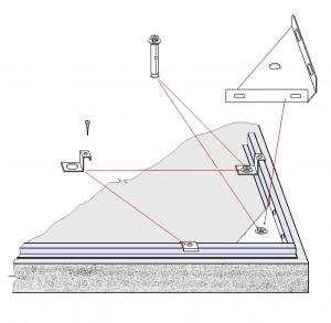 Rögzítő készlet a betonba AS01