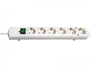 Comfort-Line 6-os elosztó 2,0m H05VV-F 3G1,5 fehér