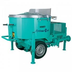 IMER MIX 750 vontatható benzinmotoros habarcskeverő 750l / 8,1kW / Honda
