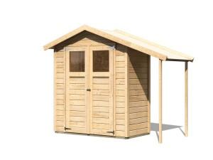 KARIBU DANA fából készült kerti ház (23485) natur