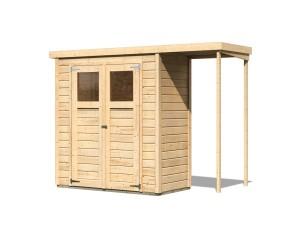 KARIBU DEVIN  fából készült kerti ház (23486) natur