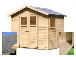 KARIBU DALIN 1 fából készült kerti ház (14438) SET