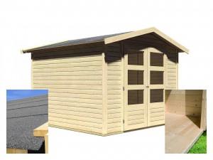 KARIBU AMBERG 4 fából készült kerti ház (14520) SET
