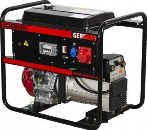 GENMAC G221HEO-M Professzionális CombiFlash elektromos indítású hegesztő áramfejlesztő 220DC