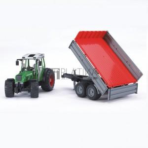 Bruder Fendt 209 traktor utánfutóval (02104)