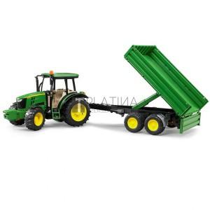 Bruder John Deere 5115M traktor utánfutóval (02108)