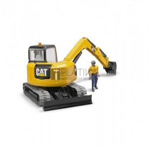 Bruder Caterpillar mini exkavátor munkással (02466)
