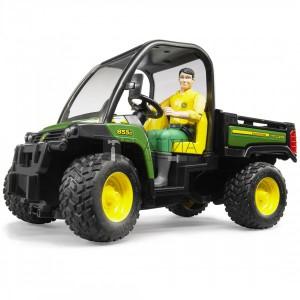 Bruder John Deere Gator XUV 855D sofőrrel (02490)
