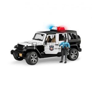 Bruder Jeep Wrangler Unlimited Rubicon rendőrségi jármű rendőrfigurával (02527)