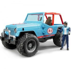 Bruder Jeep Cross terepjáró /kék/ sofőrrel (02541)