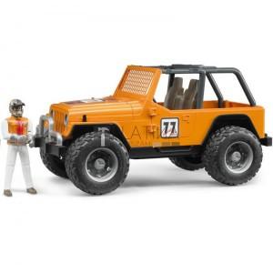 Bruder Jeep Cross terepjáró /narancs/ sofőrrel (02542)