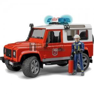 Bruder Land Rover Defender tűzoltóautó tűzoltóval (02596)