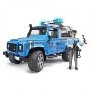 Bruder Land Rover Defender rendőrautó rendőrrel és felszereléssel (02597)